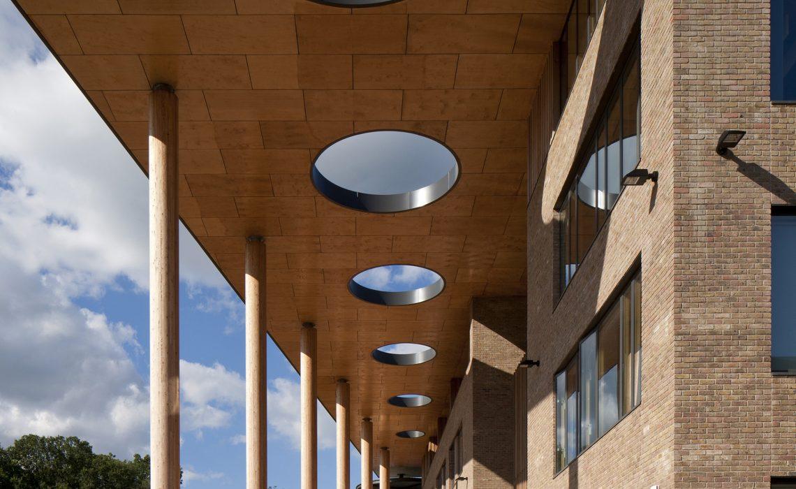 Abraham Darby Academy main entrance canopy